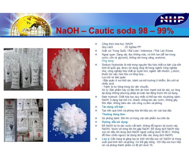 NaOH - Cautic soda Flakes 99%